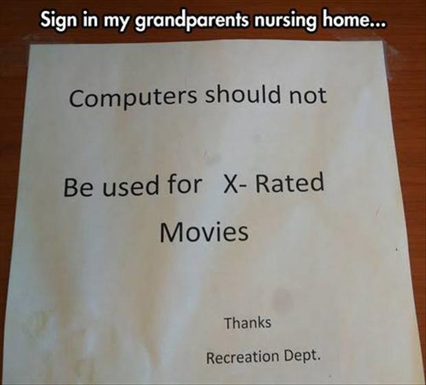 Funny nursing home sign