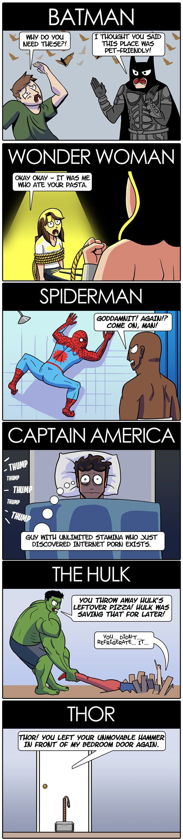 Problems with having a superhero roommate