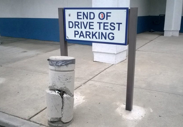 A good way to end your driving test