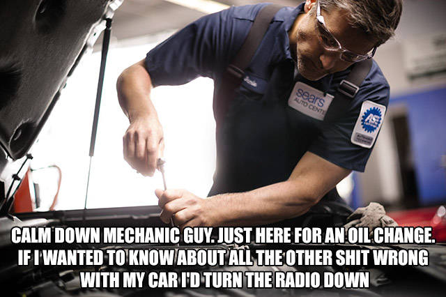 Just Change The Oil Dude